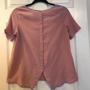 Tops - Nine Bird Satin Mauve Blouse
